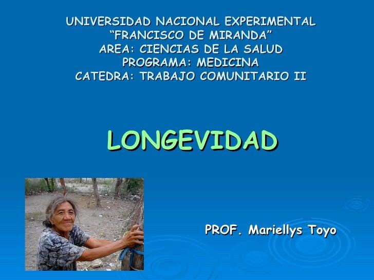 """UNIVERSIDAD NACIONAL EXPERIMENTAL """"FRANCISCO DE MIRANDA"""" AREA: CIENCIAS DE LA SALUD PROGRAMA: MEDICINA CATEDRA: TRABAJO CO..."""