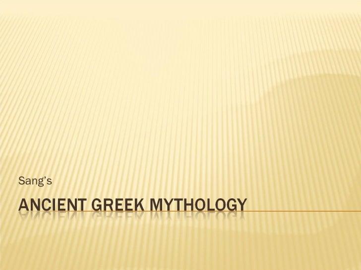 Ancient Greek Mythology Sang