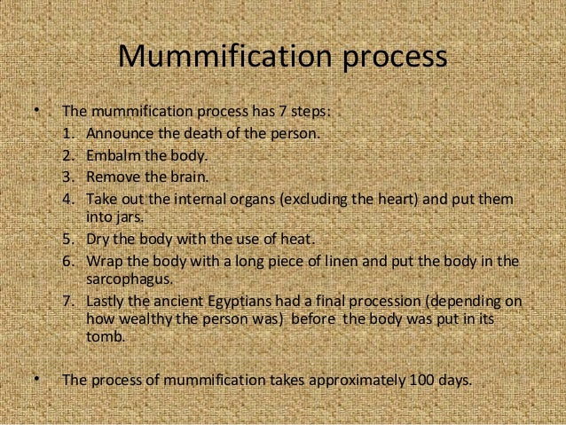 the seven steps to immortality the ancient egyptian process of mummification How were ancient egyptians mummified the most complicated mummification process ancient egyptian mummy having a ct scan view full size.