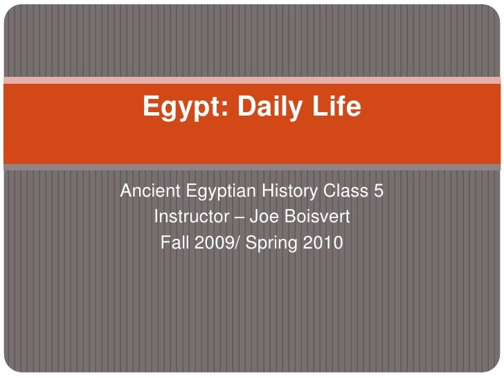 Ancient Egyptian History Class 5