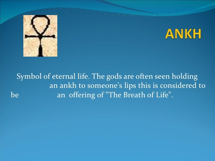 Eternal Life Symbol Egyptian