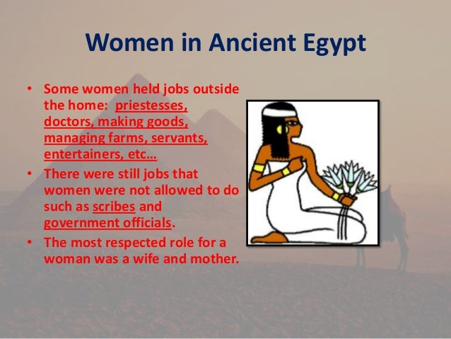 """an introduction to the history of the role of women in ancient egypt • the sphinx • social classes • role of women possible topics for the ancient egypt research project sample powerpoint - """"ancient egyptian."""