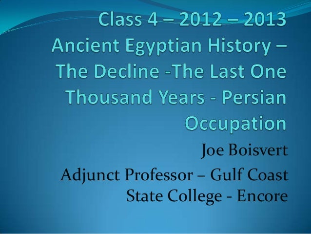 Joe BoisvertAdjunct Professor – Gulf Coast        State College - Encore