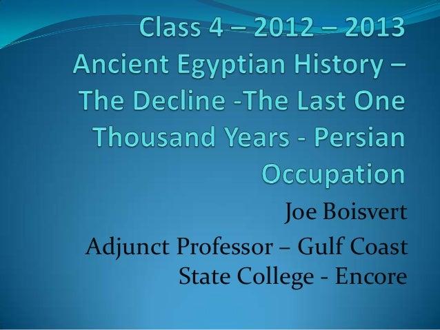 Joe BoisvertAdjunct Professor – Gulf Coast        State College - Encore