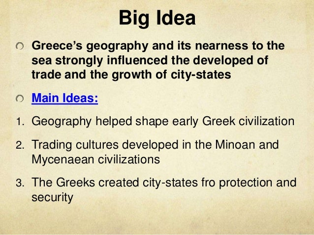 The Impact of Greek Ideas on the Modern World?