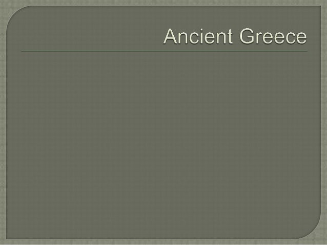 Ancient greece powerpoint