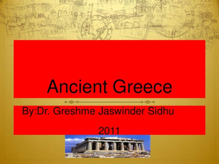 Ancient greece report