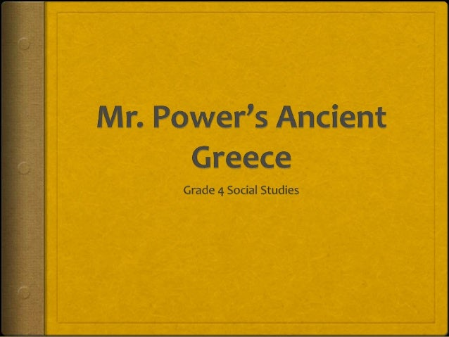 Ancient greece research power point