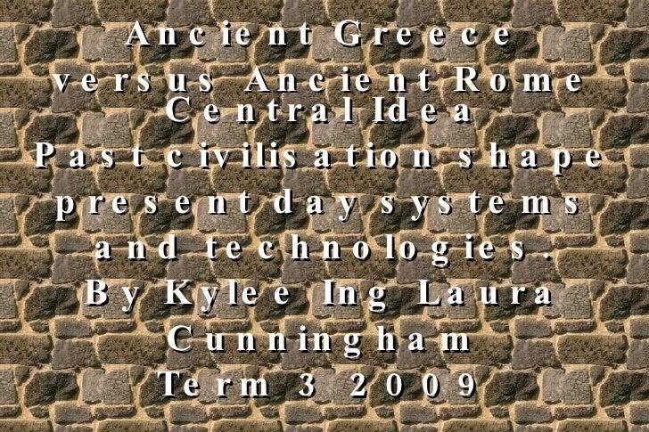 ancient greece vs ancient rome essay