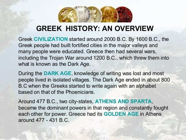 overview of ancient greece essay Kids learn about the civilization and history of ancient greece including the government, philosophy, science, athens, sparta, daily life, people.