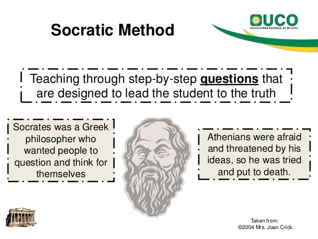 the basic and benefit of the socratic method Page 2 speaking of teaching fall 2003 the socratic method essential components of the socratic method 1 the socratic method uses questions to examine.