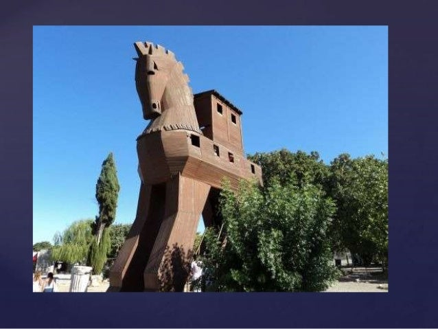 The story of the Trojan Horseoccurred in 1250 BC.