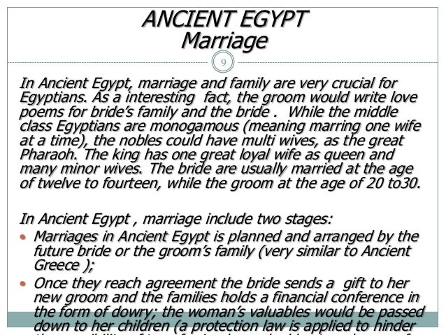Dating and marriage customs in egypt