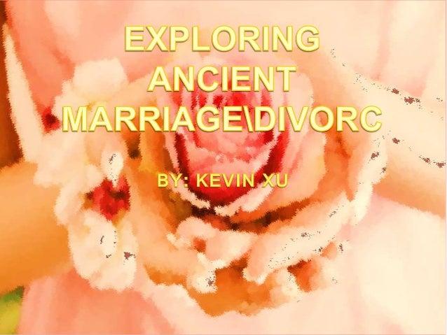 Ancient marriage customs original