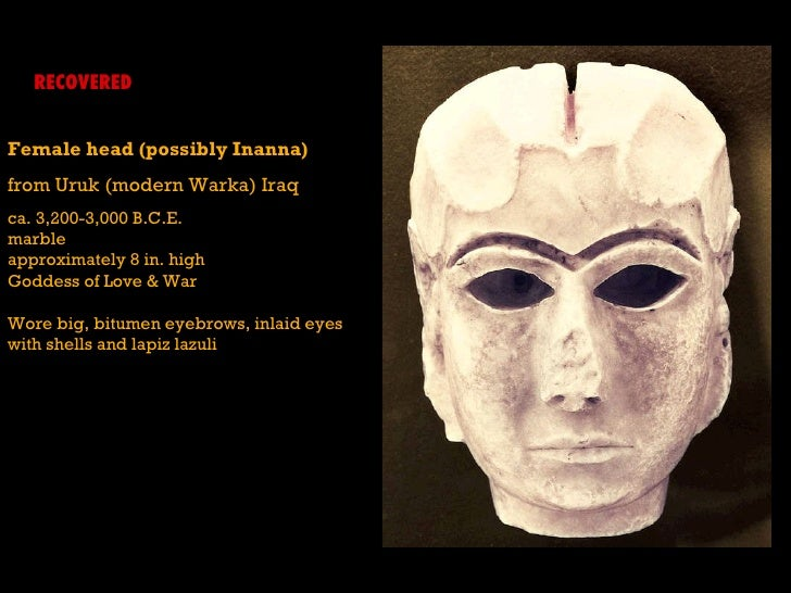 inanna female head from uruk warka - photo #23
