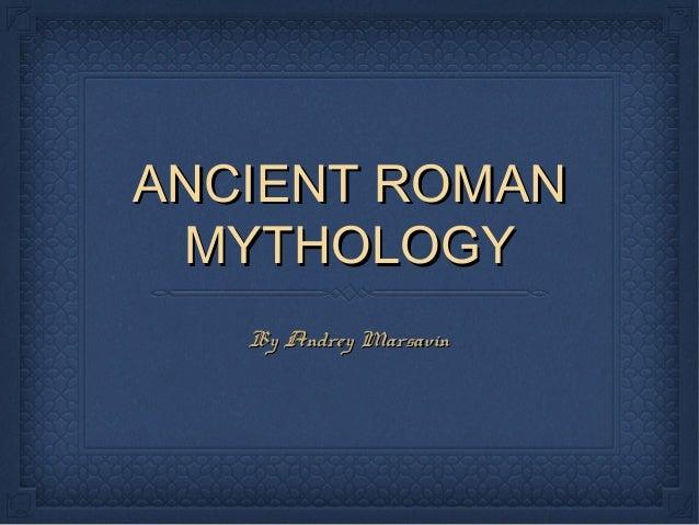 Ancient Roman Mythology PPT