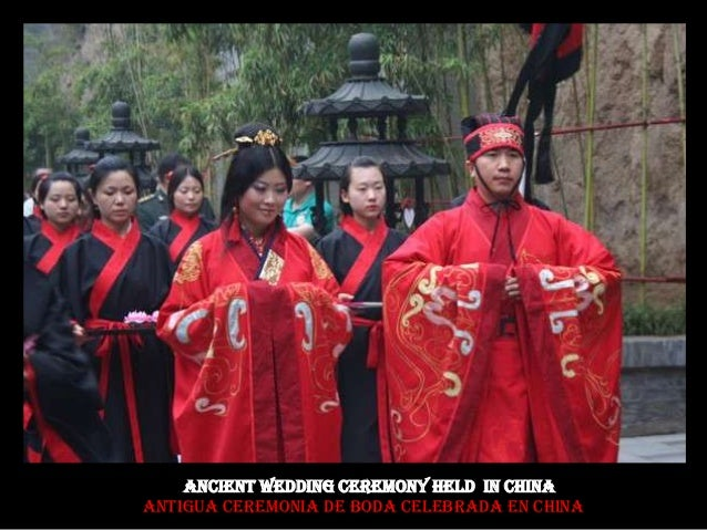 Ancient Wedding Ceremony Held IN China Antigua ceremonia de boda celebrada en China