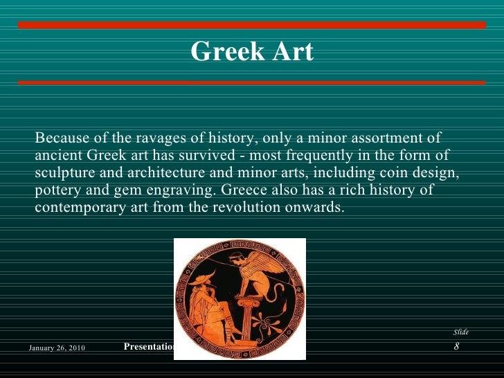 Art of Greek Civilization Greek Art Because of The