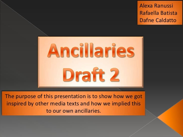 Ancillaries draft 2