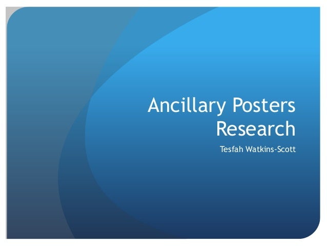 Ancillary Posters        Research        Tesfah Watkins-Scott