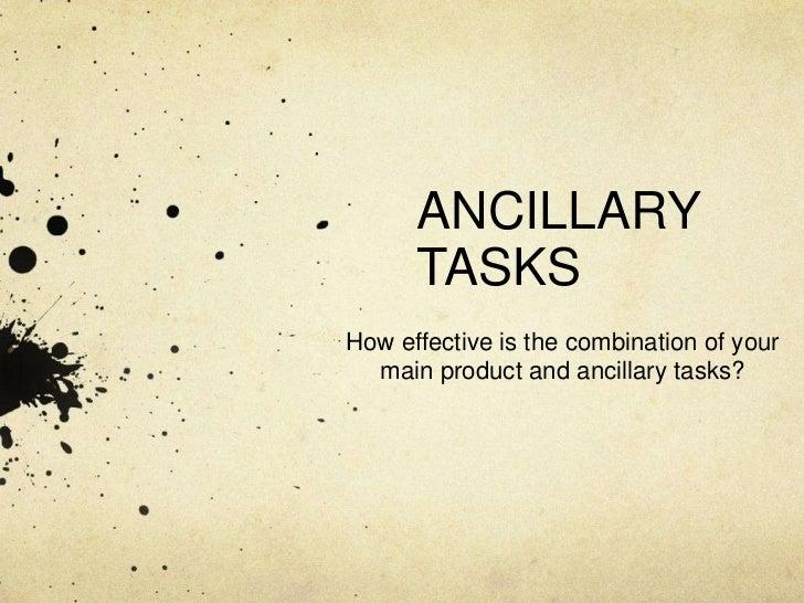 ANCILLARY TASKS EVALUATION