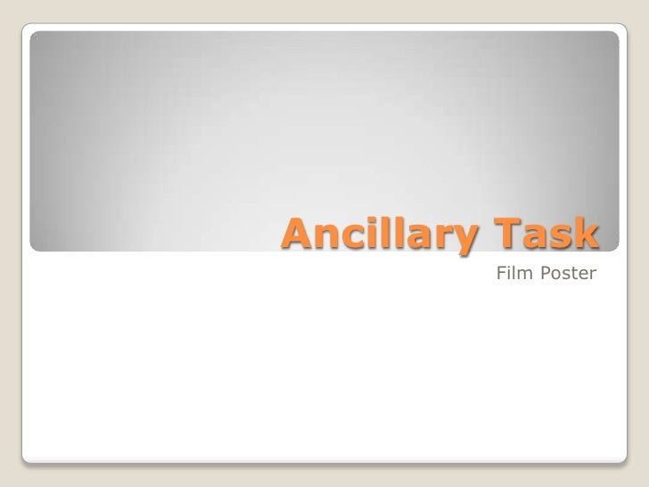 Ancillary Task<br />Film Poster<br />