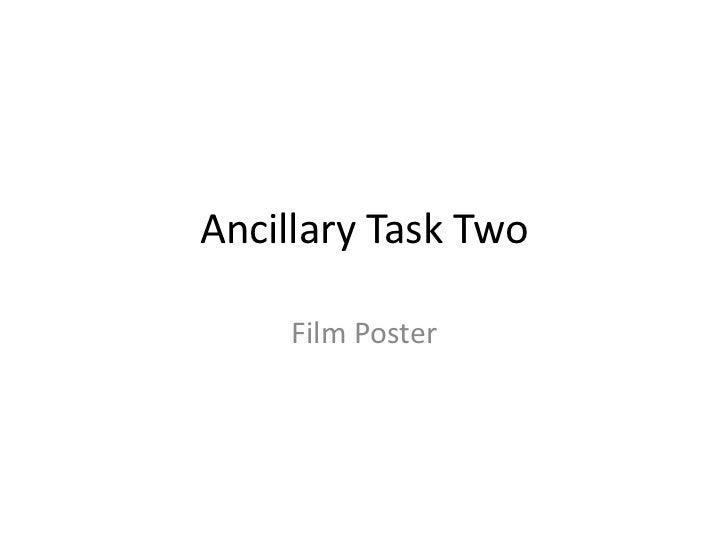 Ancillary Task Two - Film Poster