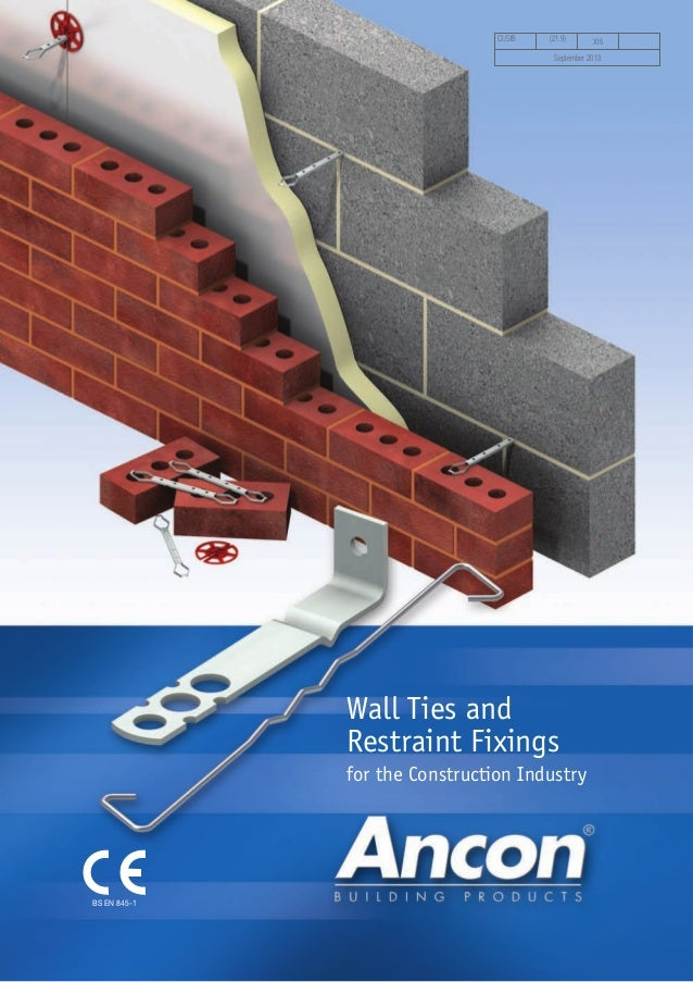 Ancon Wall Ties And Restraint Fixings For Brick Block
