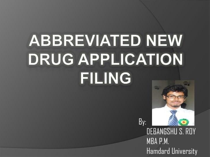 By:      DEBANGSHU S. ROY      MBA P.M.      Hamdard University