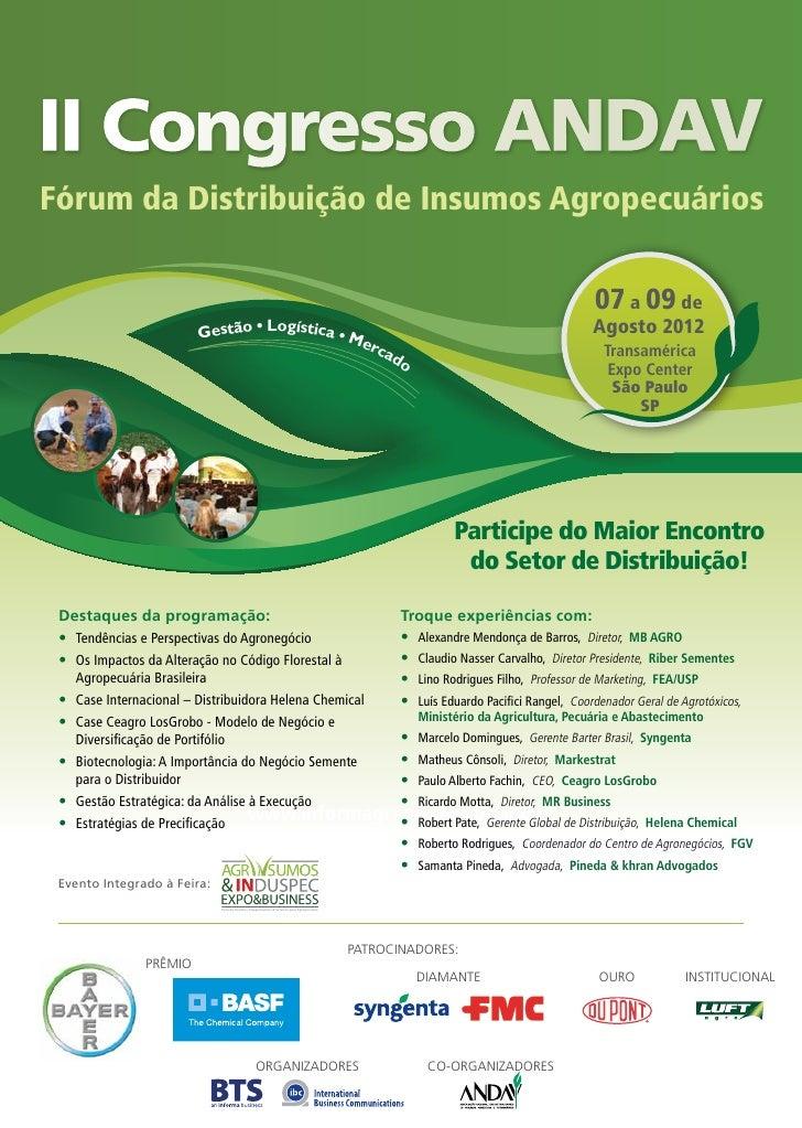 II Congresso ANDAVFórum da Distribuição de Insumos Agropecuários                                                          ...