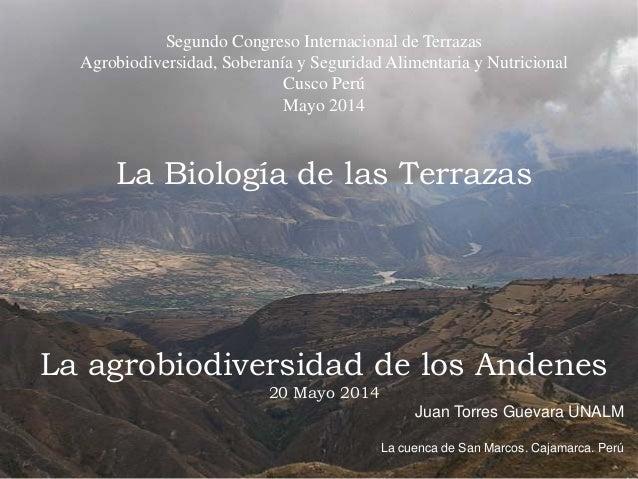 Segundo Congreso Internacional de Terrazas Agrobiodiversidad, Soberanía y Seguridad Alimentaria y Nutricional Cusco Perú M...
