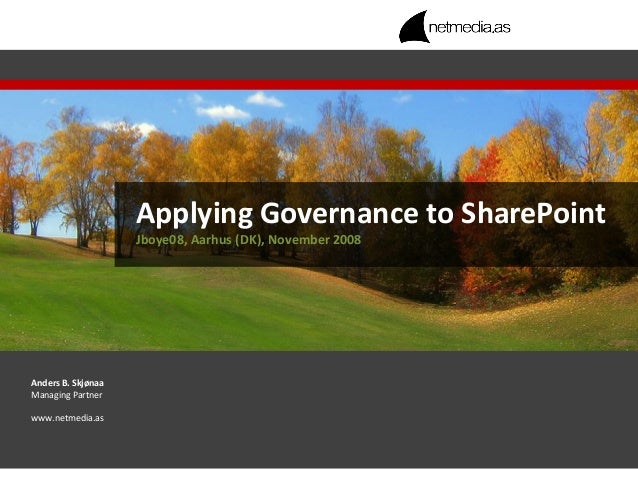Applying Governance to SharePoint