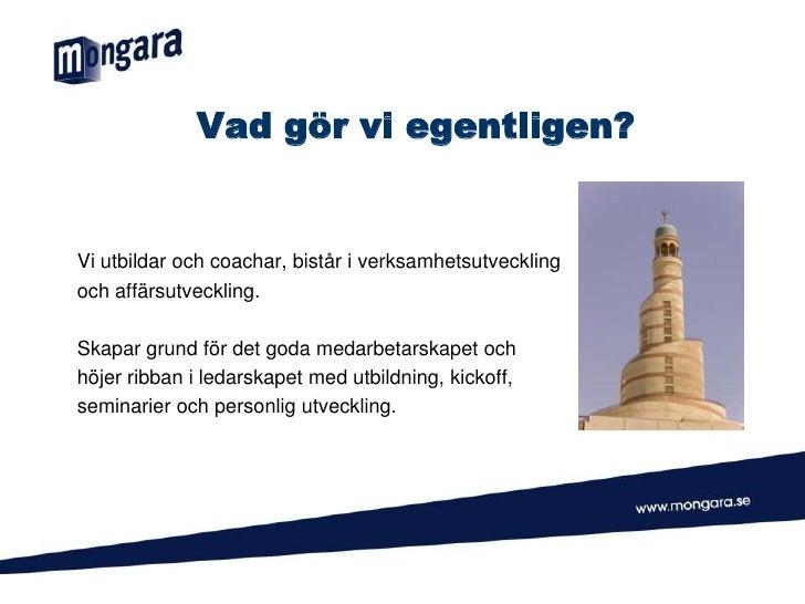 Mongara presentation