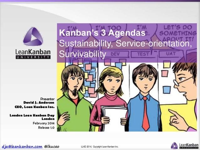 dja@leankanban.com @lkuceo LLKD 2014, Copyright Lean Kanban Inc. Presenter David J. Anderson CEO, Lean Kanban Inc. London ...