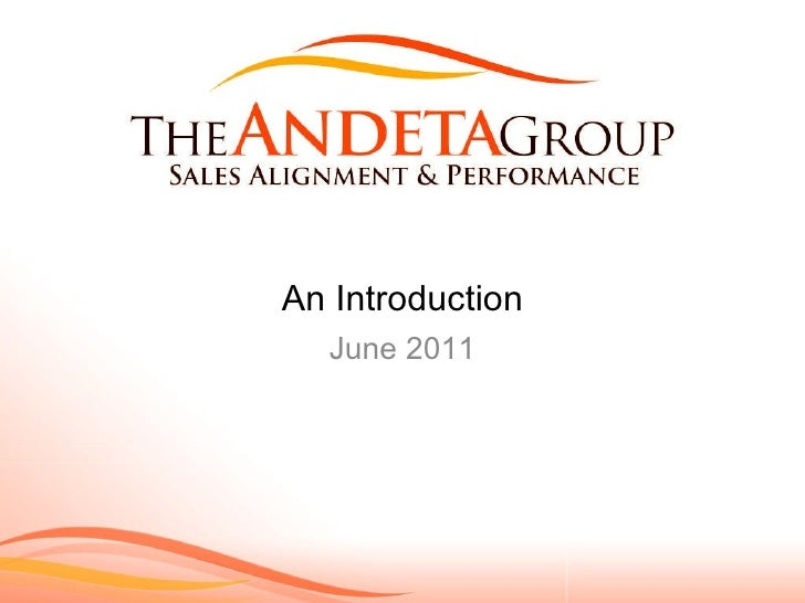 June 2011 An Introduction
