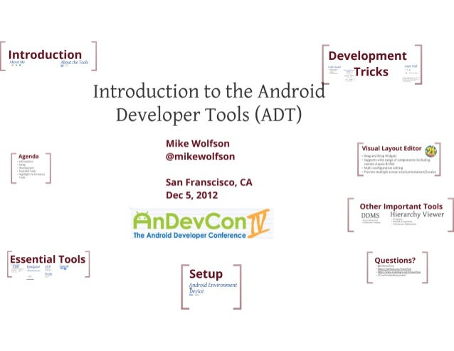 AnDevCon IV - Intro to Android Developer Tools