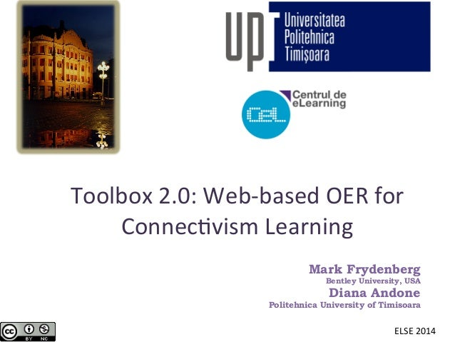 Toolbox 2.0: Web-based OER for Connectivism Learning - ELSE 2014