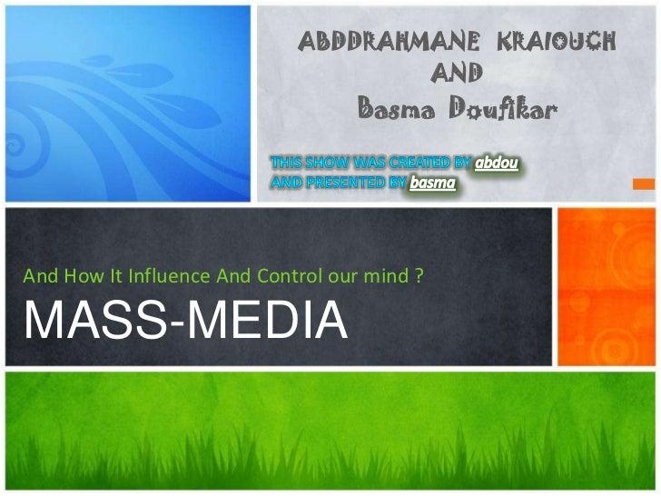 ABDDRAHMANE KRAIOUCH                                     AND                                   Basma DoufikarAnd How It In...