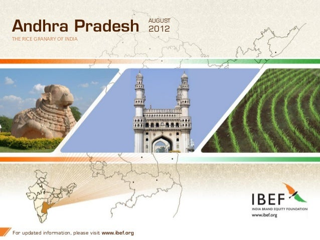 AUGUSTAndhra Pradesh                                       2012THE RICE GRANARY OF INDIAFor updated information, please vi...