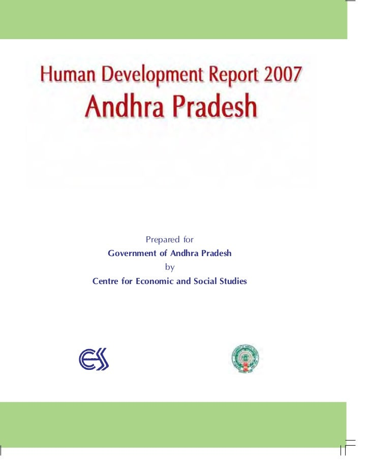 Prepared for   Government of Andhra Pradesh                 byCentre for Economic and Social Studies