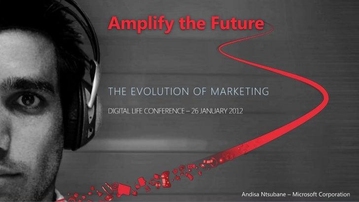 Andisa ntsubane microsoft   amplify the future digital life conference january 2012