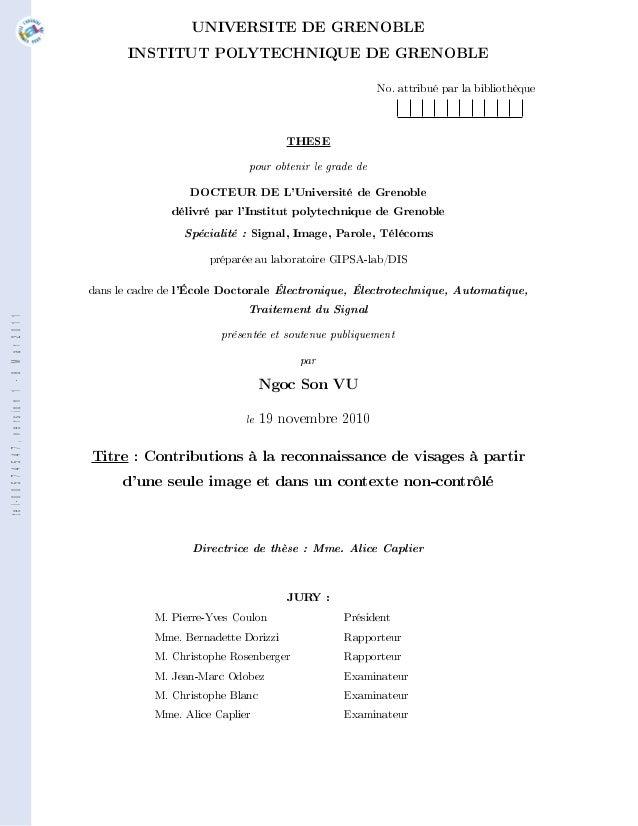 UNIVERSITE DE GRENOBLE                                              INSTITUT POLYTECHNIQUE DE GRENOBLE                    ...
