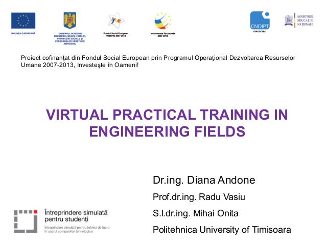 VIRTUAL PRACTICAL TRAINING IN ENGINEERING FIELDS -  EDEN 2014