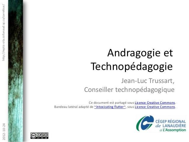 Andragogie et technopédagogie