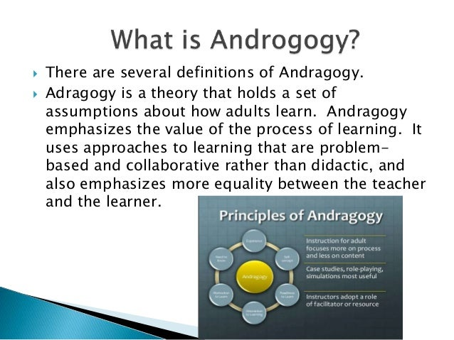 andragogy reflection self directedness essay Andragogy, with corresponding adult instructional processes examples include self-directed learning, self-planned learning, learning projects, self-education, self-teaching, autonomous learning, autodidaxy, independent study, and open learning.