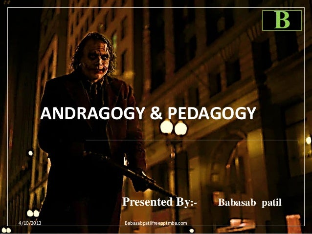 Andragogy & pedagogy ppt of human resource management