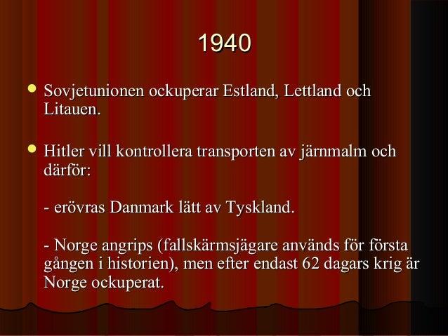 norge andra världskriget