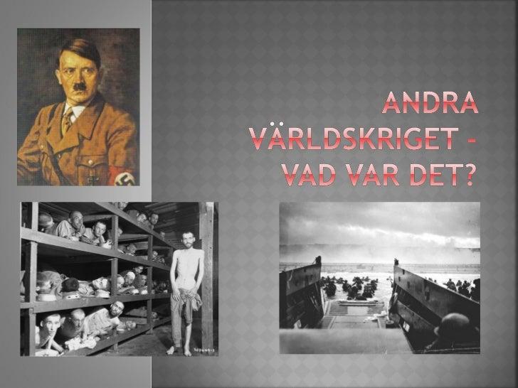 Andra världskriget PowerPoint presentation