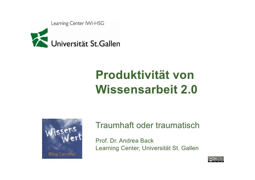 Produktivität der Wissensarbeit 2.0