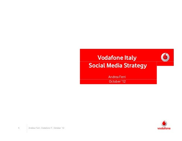 Vodafone Italy                                             Social Media Strategy                                          ...